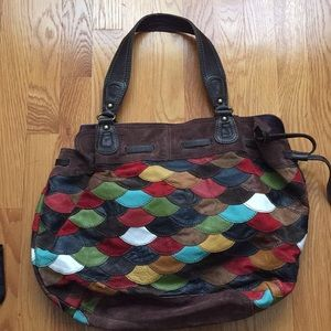 Lucky Brand leather and suede boho bag